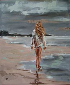 """ARTFINDER: """" AFTER THE STORM ? """" SEA original pa... by Monika Luniak - OIL ON CANVAS 60x50cm olny one, original painting - palette knife - with Certificate of Authenticity"""
