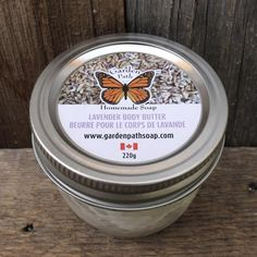 Lavender Natural Body Butter - Garden Path Homemade Soap - Made in Canada
