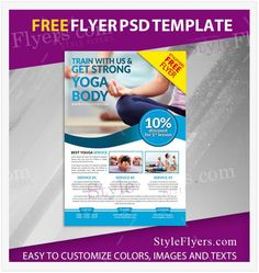 Explore the excellent collection of free yoga flyer templates. Find the perfect yoga flyer, customize in your own way & promote your personal yoga center or business related yoga institute. Yoga Flyer, Free Psd Flyer Templates, Design Desk, Free Yoga