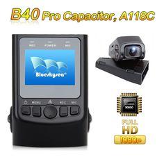Free Shipping!Blueskysea GPS +B40 PRO Capacitor Version A118C Novatek 96650 H.264 HD 1080P Car Dash Camera DVR