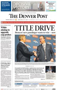 Peyton Manning's memorable Denver Post covers
