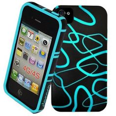 Decoro DTCIP4BKTED Premium Case for Apple iPhone 4/4S - 1 Pack - Carrying Case - Retail Packaging - Black/Teal by DECORO, http://www.amazon.com/dp/B008F46TYO/ref=cm_sw_r_pi_dp_pfesqb11CBN8N