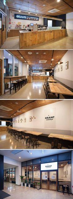 [No.179 그랜트샌드위치] 14평 상가 샌드위치 가게 인테리어, vintage wood sandwich cafe interior