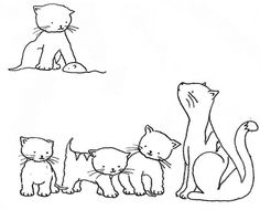 Kittens Embroidery Pattern by Bustle & Sew, via Flickr