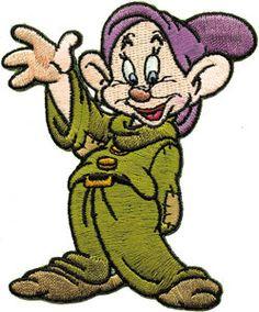Disney Snow White Dwarf Dopey Embroidered Iron On Applique Patch