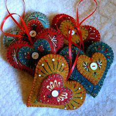 Felt Christmas ornaments                                                                                                                                                                                 More