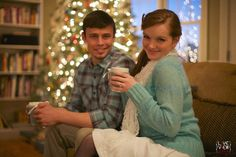 romantic couple's photography - #winter #christmas #vintage #retro - raleigh nc southern engagement photographers