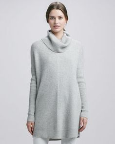 Chevron-Knit Turtleneck Sweater by Vince at Neiman Marcus.