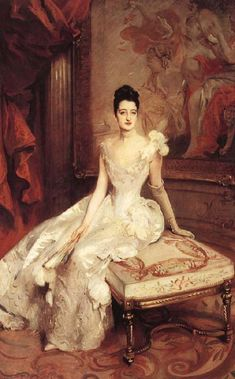 John Singer Sargent painted portraits for the richest and most influential people of his day, including Theodore Roosevelt, and many others, like this beautiful woman.