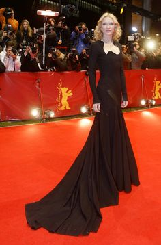 """Cate Blanchett in Givenchy Haute Couture. """"The Good German"""" première at Berlin Film Festival 2007."""