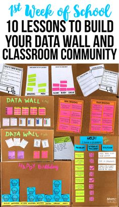 Top 10 lessons and read alouds for the first week of school to build your data wall and classroom community during back to school. print and go First Day Of School Activities, 1st Day Of School, Beginning Of The School Year, Middle School, High School, School Week, Writing Activities, Learning Resources, School Fun