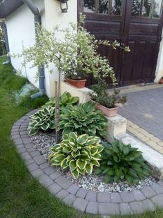 70 Awesome Front Yard Rock Garden Landscaping Ideas, - New ideas Landscape Design Plans, Landscape Edging, House Landscape, Landscape Art, Landscape Paintings, Landscape Photography, Landscape Bricks, Front Garden Landscape, Flower Landscape