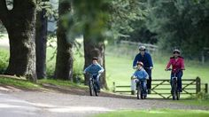 Clumber Park -Lots of parkland to cycle and walk around safely with kids.