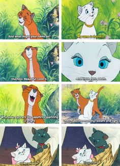 The Aristocats- the quote that made me name my cat Sapphire. May she rest in peace