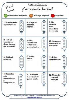 SELF assessment - Avaluació Spanish Classroom Activities, Teaching Spanish, Classroom Organization, Classroom Management, Familia Y Cole, Teachers Corner, Flipped Classroom, Cooperative Learning, Self Assessment