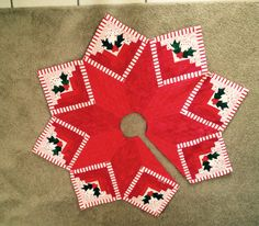 Log Cabin Star Christmas Tree Skirt By HLMQuiltedTreasures On Etsy