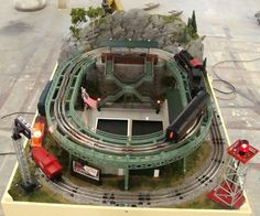 Check out the video I just made featuring the LCCA's new mini O Gauge layout - designed by Roger Farkash and fabricated in the USA by the talented T W TrainWorx. Lionel Trains Layout, Lionel Train Sets, Train Info, Model Railway Track Plans, Third Rail, Train Table, Model Trains, Toy Trains, Electric Train