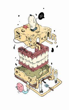 Sponge by t-wei http://t-wei.deviantart.com/art/Sponge-396489778