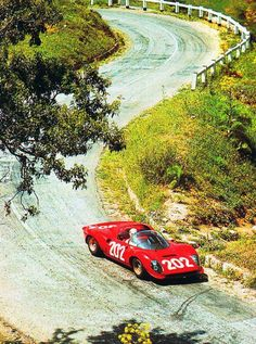 Ferrari 330 P - P4 at the Targa Florio.