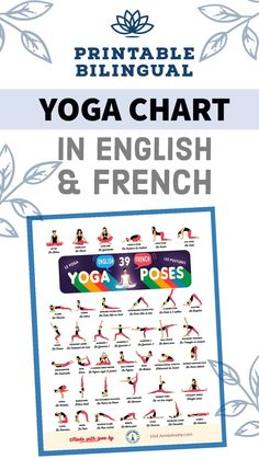 If you're looking for an intuitive or natural way to immerse yourself in the French language and you're also a Yoga enthusiast determined to stay fit but struggle with time enough to do both, here's how you can kill two birds with one stone. +Plus download my free yoga pose chart with 39 yoga pose names in English and French. by #AnnieAndre.com / #yogainfrench #frenchyogaposes #yogaposesinfrench Yoga Chart, Yoga Poses Chart, Yoga Poses Names, French Body Parts, Travel Photos, Travel Tips, French Lifestyle, Local Gym, French Resources
