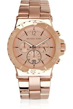 blush gold watch