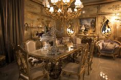 Amazing Gold Dining Room Chairs – Home Design Dining Table Chairs, Dining Room Furniture, Dining Rooms, Dining Decor, Luxury Dining Room, Dining Room Design, Fitted Bedrooms, Room Interior Design, Awesome