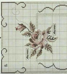 Cross Stitch Flowers, Cross Stitch Patterns, Hand Embroidery Patterns Flowers, Arabesque, Cross Stitch Embroidery, Scrappy Quilts, Drawings, Crochet Edgings, Hardanger