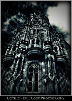 An amazing Gothic style church in a mountain village in Gran Canaria ~ gorgeous  building & photography!