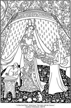 medieval coloring pages feast - photo#32