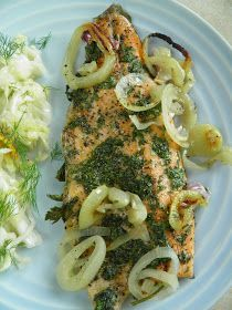 Fish Dishes, Seafood Dishes, Vegetarian Recipes, Cooking Recipes, Baked Salmon, Special Recipes, Kraut, Fish Recipes, My Favorite Food