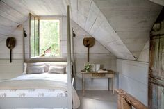 I long for a space like this to retreat to... bedroom makeover coming in May Sweet Peach - Home - AntebellumAbode...