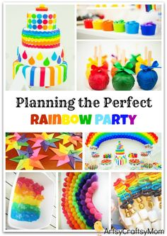 A Rainbow Themed Birthday Party Is Exciting Colorful And Pretty Much Simple To Host