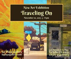 """New art exhibition at the gallery I curate for this Friday!! """"Traveling On"""" Friday, Nov 10th, 5-8pm at La Playa Gallery! 2226 Avenida de la Playa, La Jolla, CA 92037 - All Ages and Free! #sandiegoevents #sandiegoart #lajollashores #lajolla #artscene #sandiegoartist #laplayagallery #lajollalocals #sandiegoconnection #sdlocals - posted by Erica Putis  https://www.instagram.com/ericaputis. See more post on La Jolla at http://LaJollaLocals.com"""