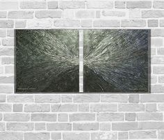 Kunstgalerie Winkler Abstrakte Acrylbilder Schwarz Silber Unikat Bilder Neu