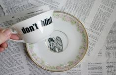 Weeping Angels Teacup and Saucer