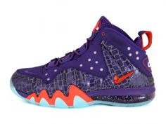 NIKE BARKLEY POSITE MAX COURT PURPLE/TEAM ORANGE #sneaker