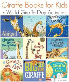 Books Featuring Giraffes (Unit Study Children's Books Featuring Kids + World Giraffe Day ActivitiesChildren's Books Featuring Kids + World Giraffe Day Activities Preschool Books, Learning Activities, Preschool Printables, Science Books, Life Science, Child Love, Your Child, Safari Theme, Animal Books