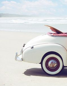 How fun does this look! We want to drive down the beach with the top down and soak up the sun! We wouldn't mind watching some waves either!