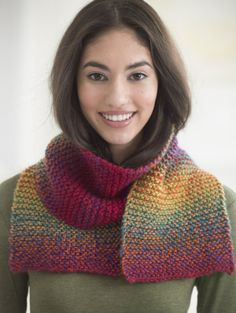 Beginner Scarf for Knitters ~ What a beautiful finished project a beginner could make and be PROUD of! ~ Lion Brand Yarn