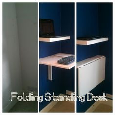 Oh, finally one using the Bjursta table. - Foldable standing desk