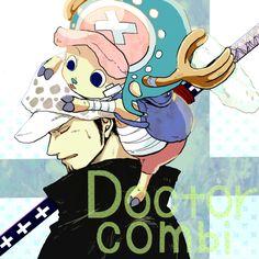 Doctor Combination! :D  Trafalgar Law and Chopper  One Piece