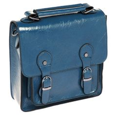 Blue square satchel www.beehappyhome.co.uk