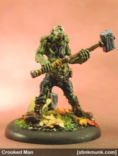 Crooked Man 1 of 3, First Edition. Model by Wyrd Miniatures, painted by Stinkmunk (November 2013). #Malifaux