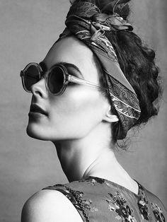 headscarf + turban + glasses