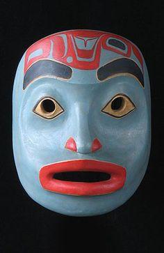 Haida portrait mask, British Columbia, NWC, Canada