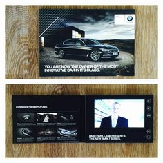 Custom designed VideoPak with pocket for a printed brochure and a printed outerbox for BMW New Bmw, A5, Digital Marketing, Innovation, Custom Design, Pocket, Printed, Prints, Bag