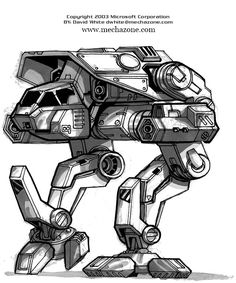 MechWarrior 4 Puma front view by *Mecha-Master on deviantART
