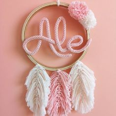 23 Clever DIY Christmas Decoration Ideas By Crafty Panda Spool Knitting, Baby Knitting, Macrame Patterns, Crochet Patterns, Easy Crafts, Diy And Crafts, Dream Catcher Craft, Nail String Art, Baby Mobile