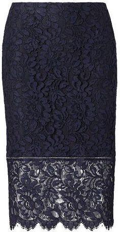 $49.99 Polo Ralph Lauren Lace Pencil Skirt - black