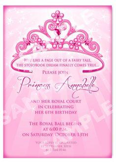 princess birthday invitation diy 12